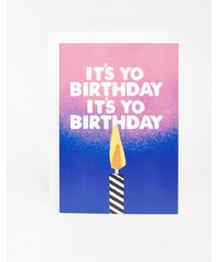 Jolly Awesome - Yo Birthday - Carte - Multi