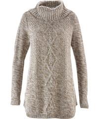 bpc bonprix collection Poncho-Pullover mit langen Ärmeln langarm in weiß für Damen von bonprix