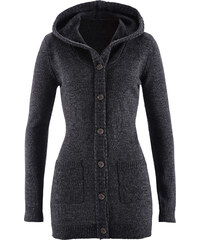 bpc bonprix collection Strickjacke mit Kapuze langarm in schwarz für Damen von bonprix