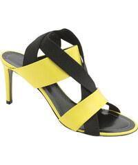 Sandales à talons Balenciaga en cuir Jaune flashy