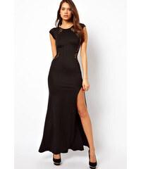 001 Společenské černé maxi šaty XXL