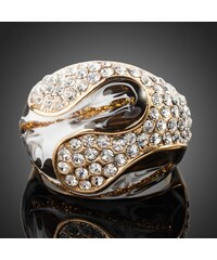 Pozlacený prsten se zirkony PRSSW0090