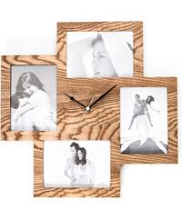 Nástěnné hodiny s fotorámečkem Tomasucci Collage Wood