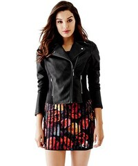 Guess Bunda Mikayla Faux-Leather Basketweave Jacket