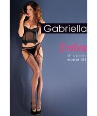 Punčochy Gabriella Erotica Strip Panty 151 Code 636, černá