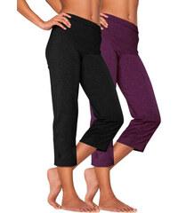 Capri kalhoty (2ks) černá + jahodová