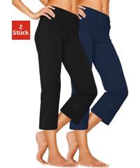 Capri kalhoty (2ks) černá + námořnická modrá