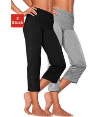Capri kalhoty (2ks) černá + šedý melír