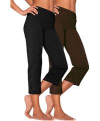 Capri kalhoty (2ks) černá + hnědá