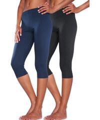 VIVANCE Dámské capri kalhoty (2ks v balení) 1x námořnická modrá + 1x černá