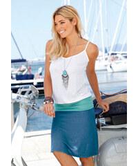 BEACH TIME Plážové šaty, Beachtime bílá/tyrkysová/modrá