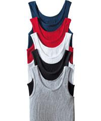 PETITE FLEUR Spodní košilky (5ks), sheego modrá+červená+bílá+černá+šedá - jemné žebrování