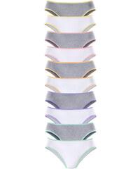 GO IN Bikinové kalhotky, GO IN (10 ks) šedý melír + bílá
