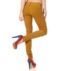ARIZONA Strečové kordové džíny, Arizona žlutá - Normální délka (N)