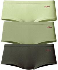 S.OLIVER Bavlněné kalhotky hipster, s.Oliver (3 k 3x zelená-olivová