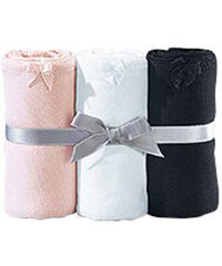 LASCANA Bavlněné kalhotky hipster panty, LASCANA růžová+bílá+černá