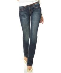 ARIZONA Rovné strečové džíny Blues , Arizona modrá obnošená - Normální délka (N)