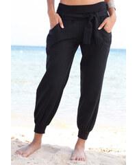 BUFFALO LONDON Plážové kalhoty černá