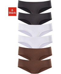 VIVANCE ACTIVE Kalhotky hispter panty, Vivance Active ( 2x hnědá + 2x černá + 2x bílá