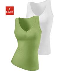 H.I.S Topy na ramínka, H.I.S (2ks) zelená+bílá