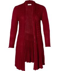 SHEEGO STYLE Úpletový kabátek, sheego Style vínová