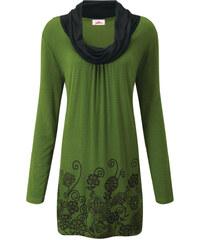 JOE BROWNS Dlouhé tričko Joe Browns zelená/černá