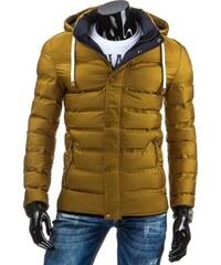streetIN Zimní bunda s kontrastní podšívkou a kapucí - žlutomodrá Velikost: M