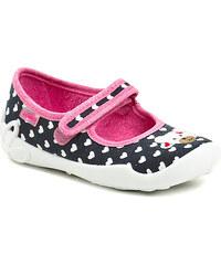 Dětská obuv Befado 114x195 černo růžové dívčí baleríny