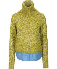 RAINBOW Pullover, 2in1 langarm in grün für Damen von bonprix