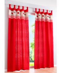 bpc living Vorhang Carl (1er-Pack), Schlaufen in rot von bonprix