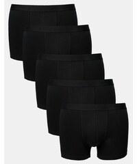 ASOS - Lot de 5 boxers en tissu ultra stretch - Noir - Noir