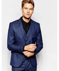 Selected Homme - Veste de costume cintrée à petits pois - Bleu