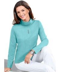 CLASSIC BASICS Damen Classic Basics Shirt mit Metallplättchen-Applikation blau 36,38,40,42,44,46,48,50,52,54