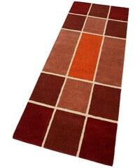 Läufer Maurice 3, 8 kg/m² handgearbeitet reine Schurwolle MY HOME orange 11 (B/L: 67x230 cm),13 (B/L: 90x250 cm)