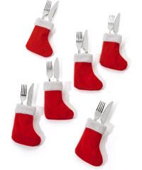 bpc living Bottes de Noël porte-couverts (Ens. 6 pces.) rouge maison - bonprix