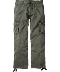 RAINBOW Pantalon cargo Loose Fit Tapered vert homme - bonprix