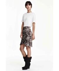 H&M Zavinovací sukně s volánem