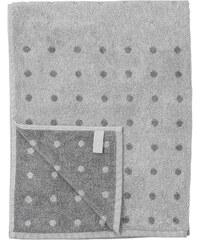 Bloomingville Bavlněná osuška Grey Dot 70 x 140 cm