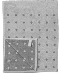 Bloomingville Bavlněný ručník Grey Dot 50 x 70 cm