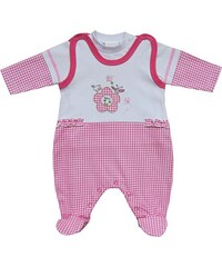 Schnizler Unisex Baby Strampler Interlock, kariert, 2 - tlg. Set, Langarmshirt