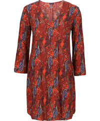 BODYFLIRT MUST HAVE: Kleid 3/4 Arm in orange von bonprix