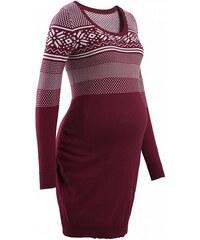 bpc bonprix collection Těhotenské pletené šaty s norským vzorem bonprix