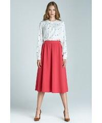 Módní sukně Midi NIFE, sukně midi pod kolena 36 fuchsiová