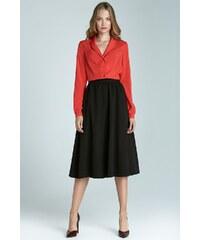 Módní sukně Midi NIFE, sukně midi pod kolena 36 černá
