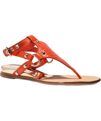 Thong sandales Casadei Rio en cuir paprika