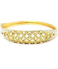 JewelsHall Zlatý náramek s kamínky pevný
