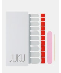 Juku Nails - Faux-ongles à bout style French manucure - Rouge - Rouge