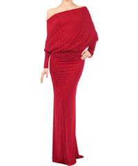 001 Společenské dlouhé červené šaty