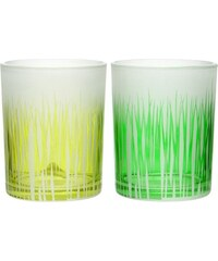 Jolipa Sada 2ks svícnů Grass Glass, 10x13 cm