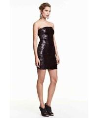 H&M Flitrové šaty bez ramínek